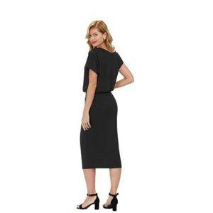 One Shoulder Black Bodycon Pencil Dress 3XL